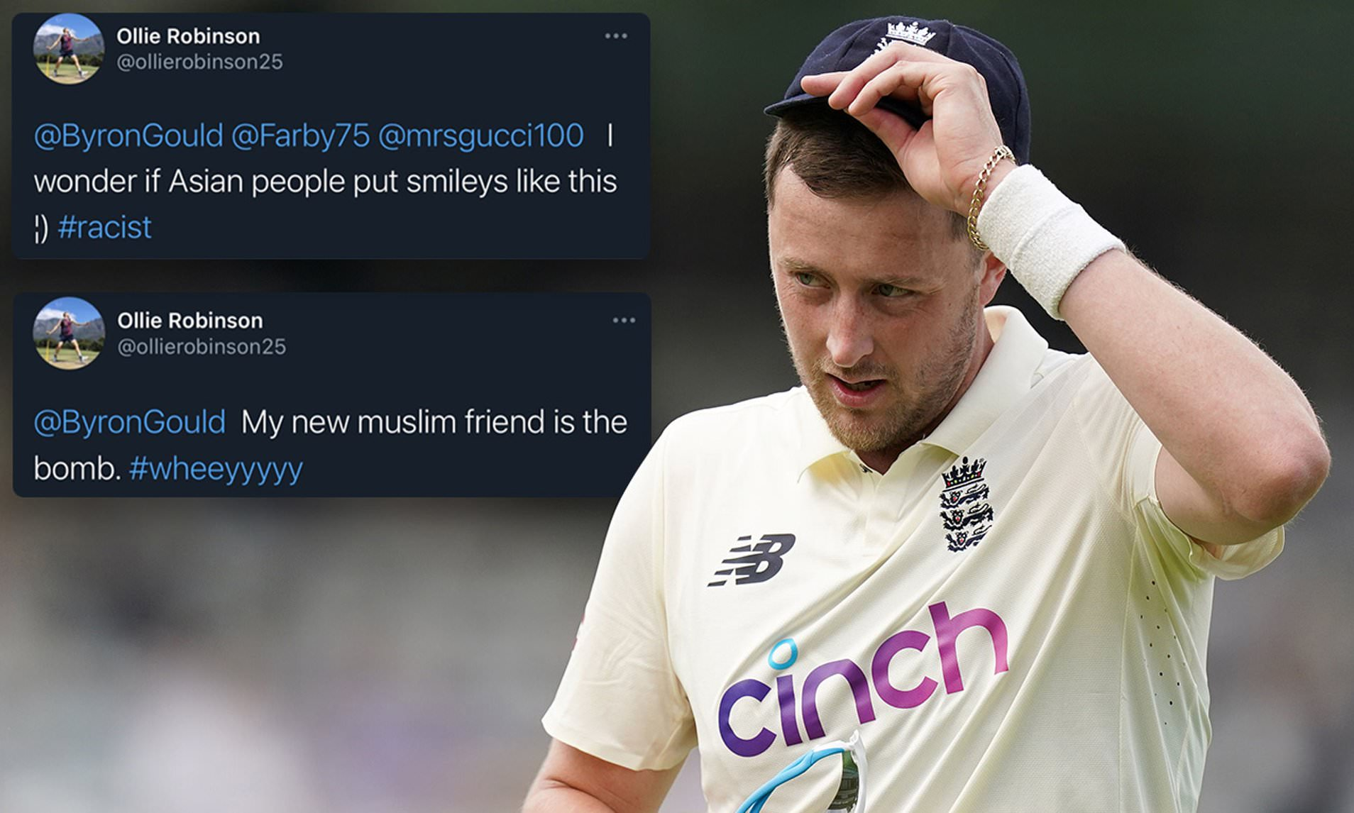 England vs New Zealand: Ollie Robinson apologizes for 8-year-old tweets